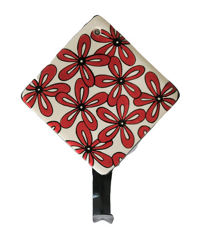 Tile Hanger RED DAISIES