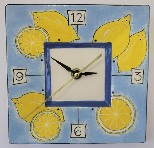 CERAMIC CLOCK Lemons