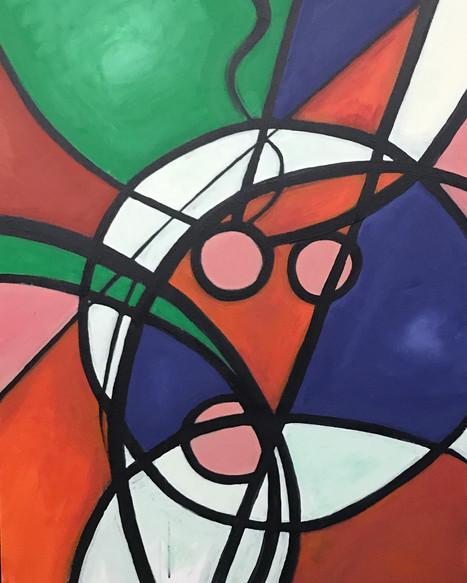 Circles & Line, #3