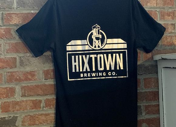 Hixtown Logo Tee Black/Silver