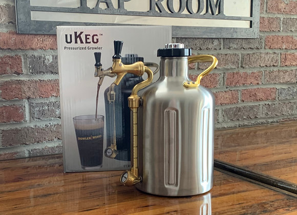 uKeg 128 Stainless Carbonated growler