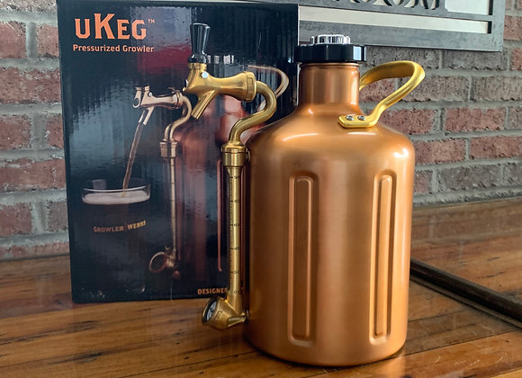 uKeg 128 Copper Carbonated growler
