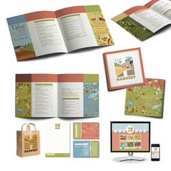 /harvest menu and branding