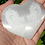 Thumbnail: Angel Heart - Healing Selenite Palm Stone with Etched Angel Wings