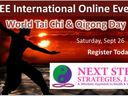 FREE International Tai Chi & Qigong Event! Saturday Sept 26
