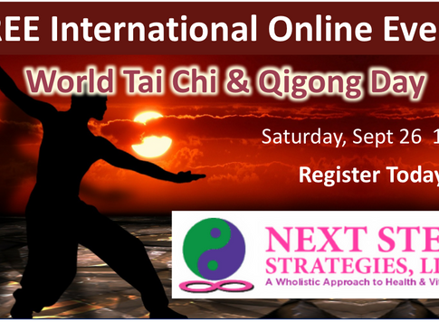 FREE International Tai Chi & Qigong Event! Saturday Sept 26