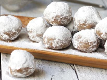 No-Bake Pecan Snowballs  (Grain-free & Vegan)