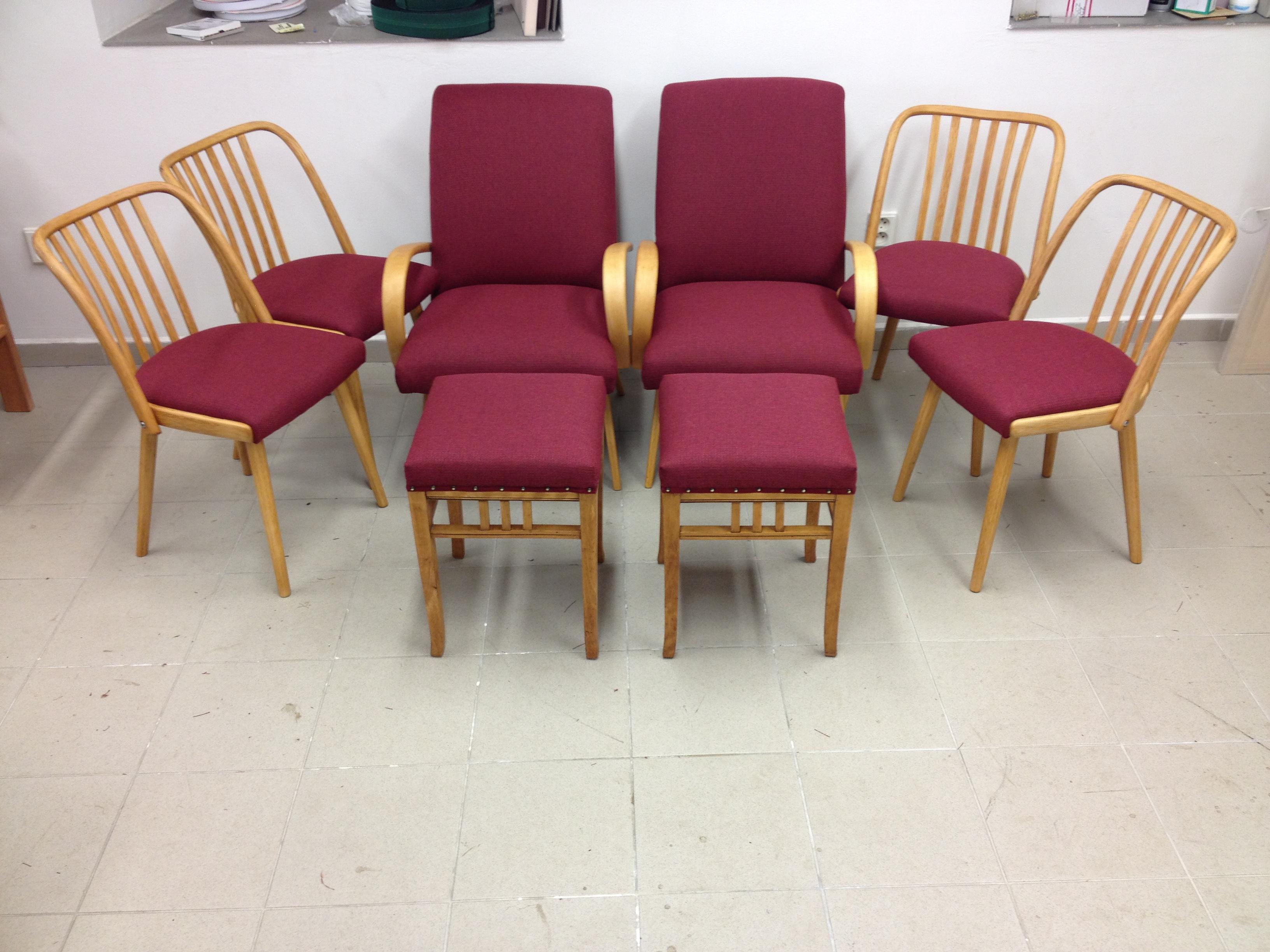 Židle, křesílka po renovaci