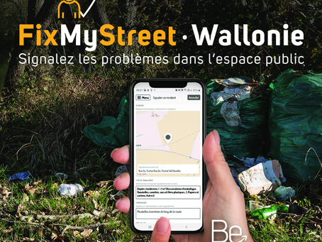 FixMyStreet Wallonie: an anti-waste application to keep the environment clean