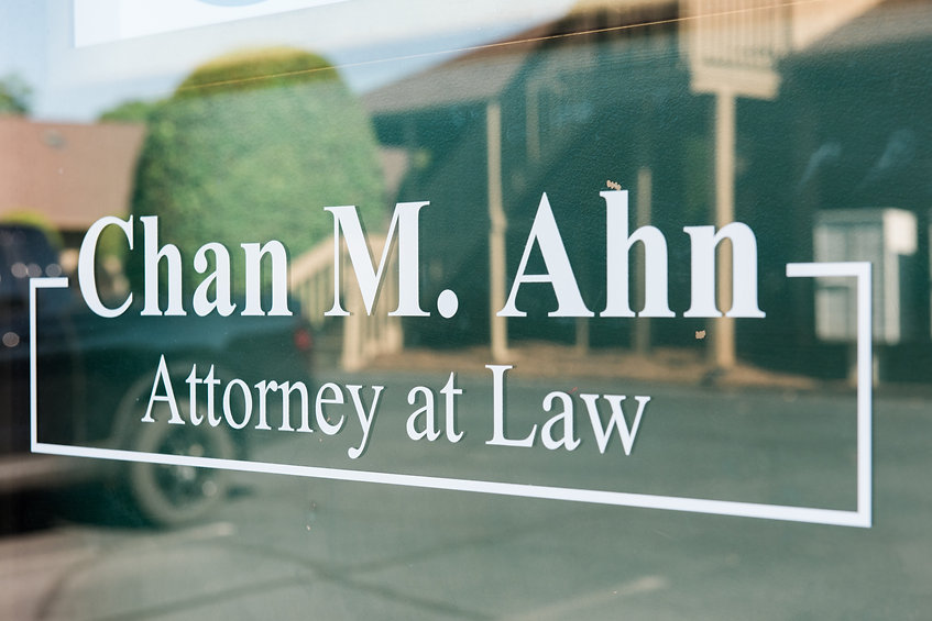 Chan M. Ahn Attorney Window