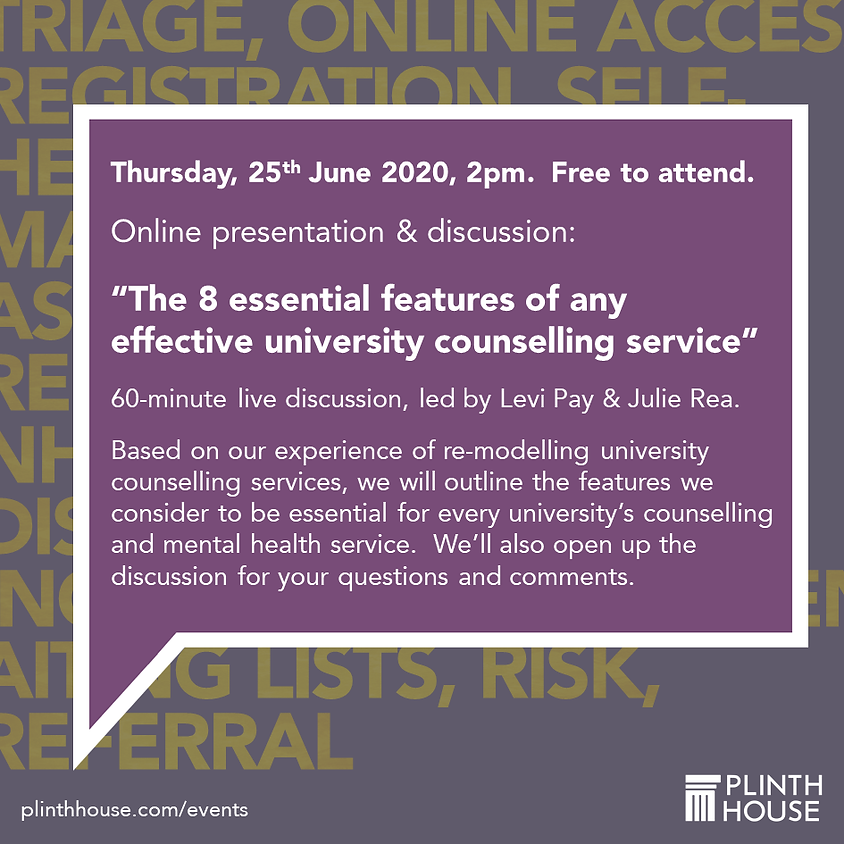The 8 essential features of any effective university counselling service