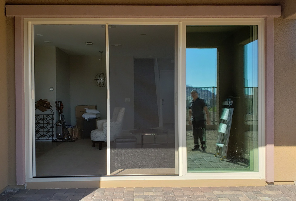 Double Retractable Screen Door