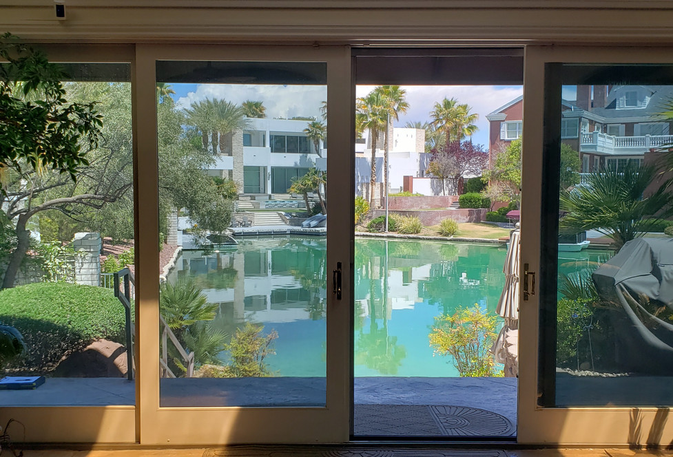 Double Retractable Screen Doors