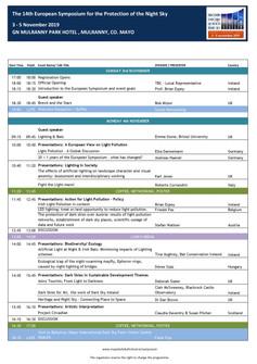 Symposium Programme published