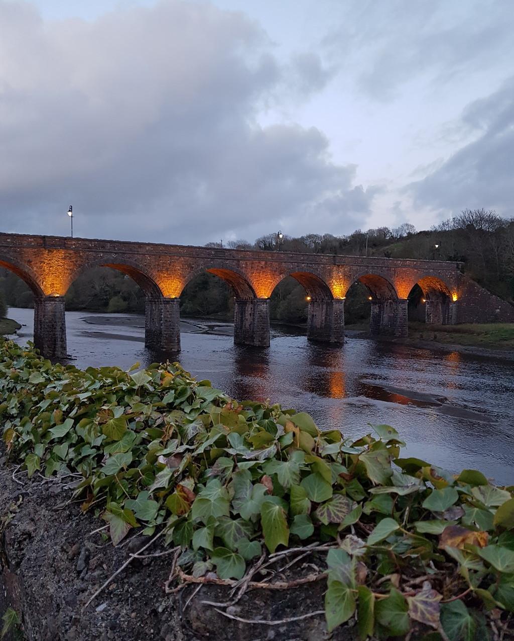 Seven Arch Bridge at Sunset