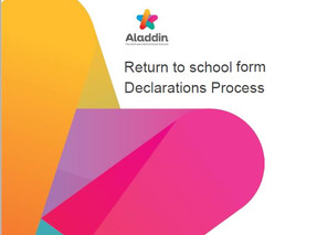 Return to School Declaration