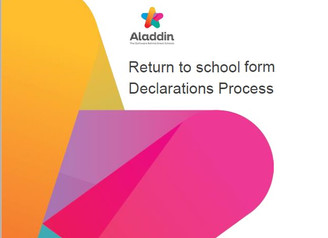 Return to School Declaration