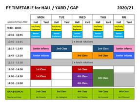 PE Timetable