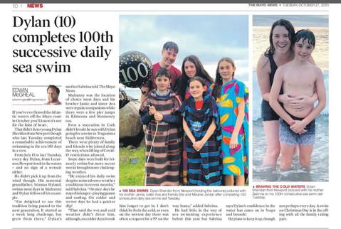 Dylan's 100th Daily Swim!