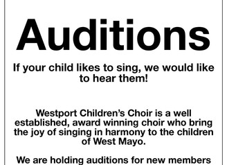 Westport Childrens Choir Auditions
