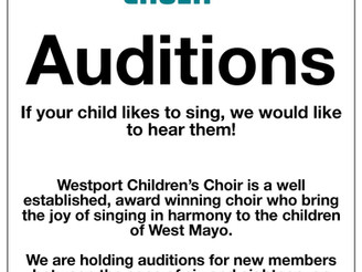 Westport Childrens Choir Auditions