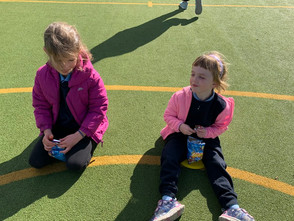 Junior Infants' outdoor classroom