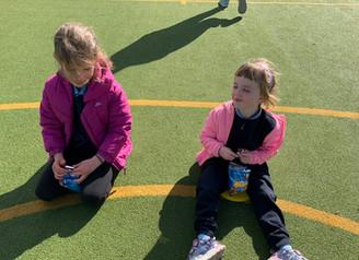 Junior Infants' outdoor classroom