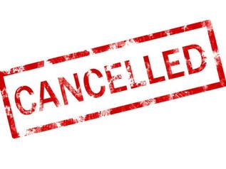 Saturday Stargazing cancelled