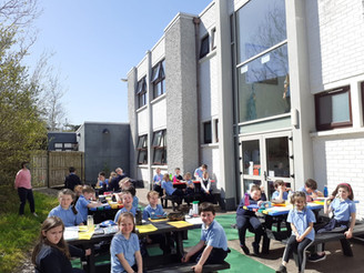 1st class learning outdoors