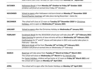 School Calendar 2020/21