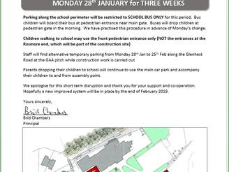 URGENT: Car Parking restrictions
