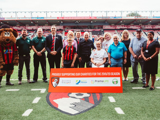 PramaLife Announced as Charity Funding Partner by AFC Bournemouth