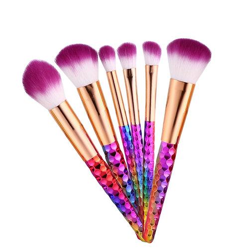 Maquiagem 6 PC Makeup Brush Set