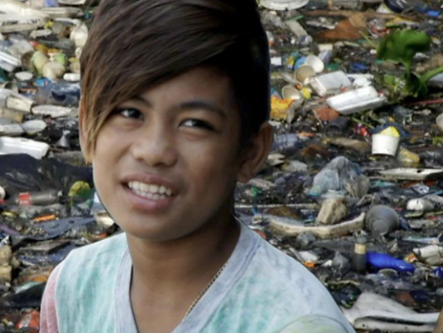The Boy Who Dives For Plastic