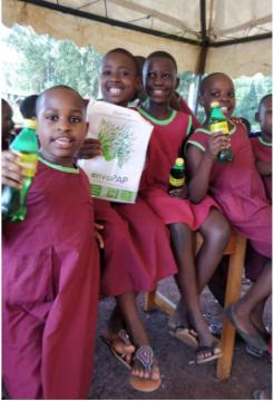 school children with envoPaP paper