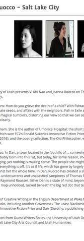 Vi Khi Nao & Joanna Ruocco - Salt Lake City
