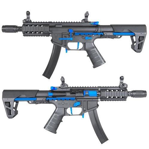 King Arms PDW 9mm SBR Shorty - Black & Blue