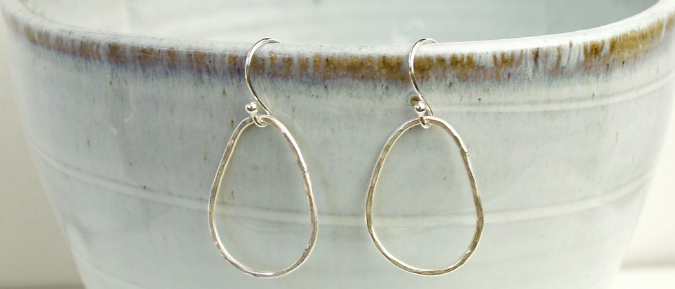organic pebble earrings