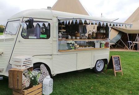 Vintage catering van