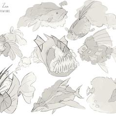 Concept Art _ Cloud + Fish