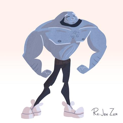 Blue Muscle Guy