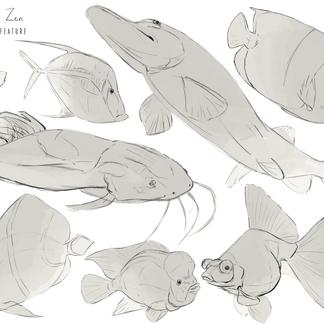 Concept Art _ Fish Study