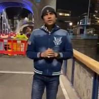 Maharishi Aazaad at London Bridge in UK