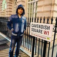 Maharishi Aazaad at Cavendish Square in London, Uk