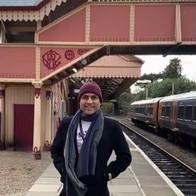 Maharishi Aazaad at Startford Station in UK