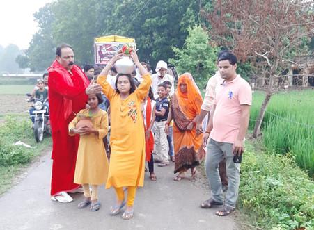 Ex MLC Ghanshyam Dube laid the foundation stone of Hira Dham