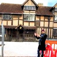 Maharishi Aazaad at Shakespeare House in Stratford, UK
