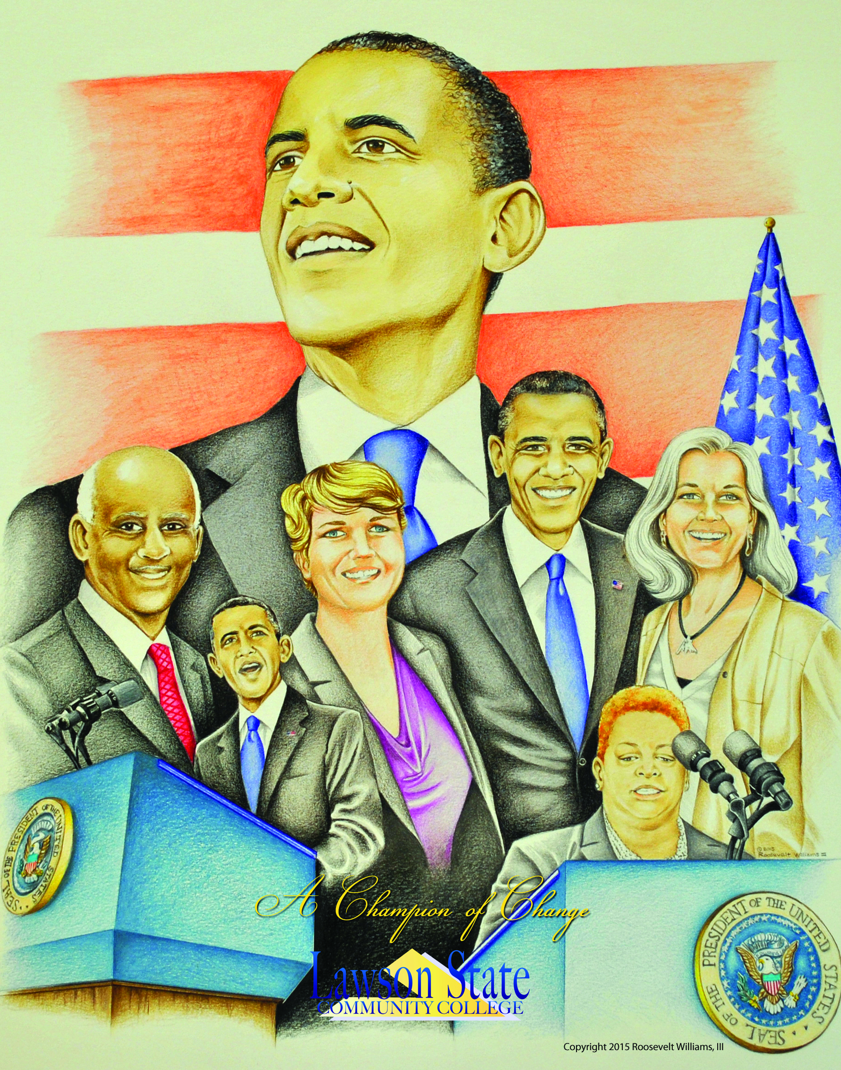 Drawing of President Obama