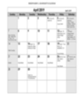 Bishop HLS 2019- public release calendar