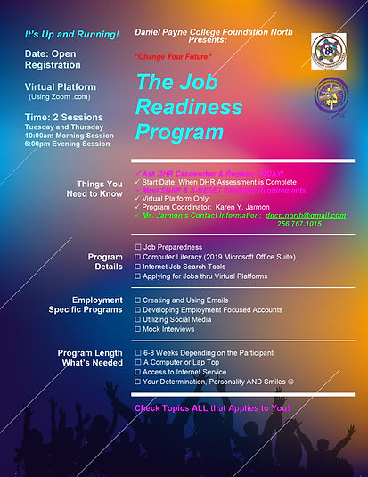 DPCP North - Virtual Job Readiness Flyer